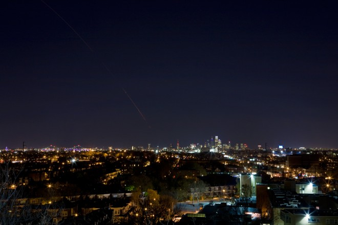 Minotaur 1, seen from Philadelphia | Photo: Bradley Maule