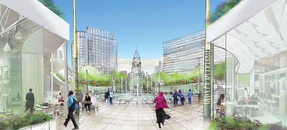 Rappaport LOVE Park rendering
