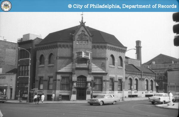 Centennial Bank, founded by Clarence Clark and designed by Frank Furness, at 32nd & Market in 1963 | Image: PhillyHistory.org
