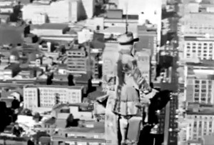 A still shot from the short film Design for a City (1963).