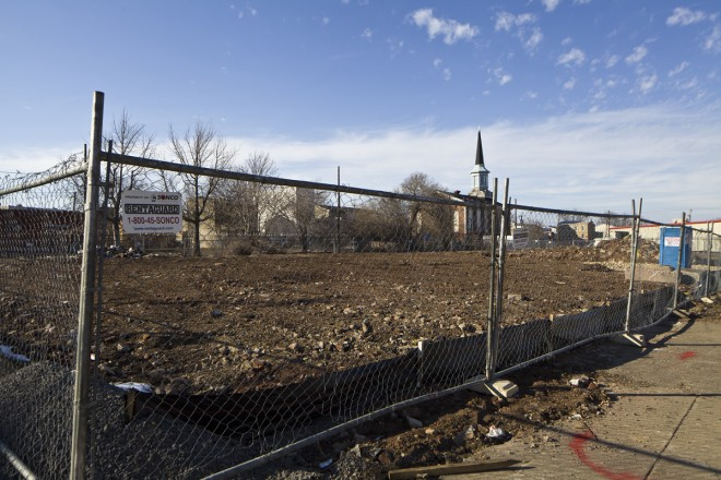 Site of the new Veyko metal fabrication facility at American and Oxford Streets, the first new facility to be built on American between Girard and Berks in more than a decade. | Photo: Peter Woodall