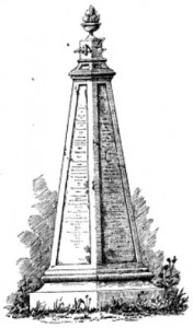 A conjectural drawing of the obelisk from 1884 |Source: Engineering News Record, Volume 12