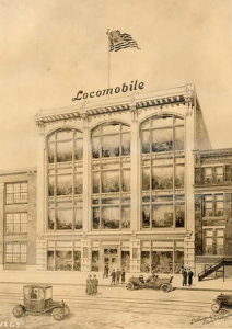 Locomobile Building Rendering | Source: Ballinger Collection, Athenaeum of Philadelphia