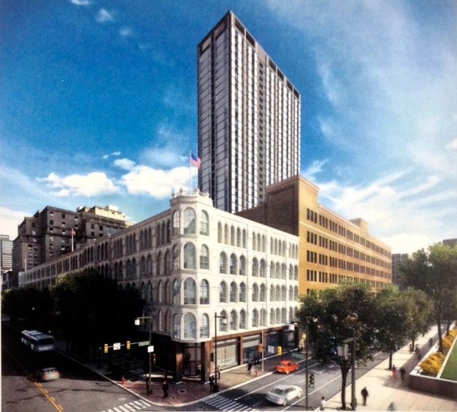 Rock the MIC | Rendering of MIC Tower by Stantec Architecture, via Philadelphia Historical Commission