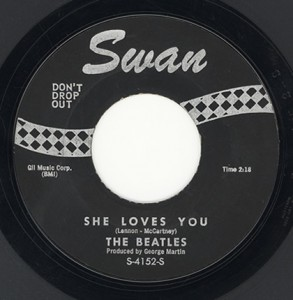 "The Beatles' ""She Loves You,"" released by Philadelphia's Swan Records in 1963"