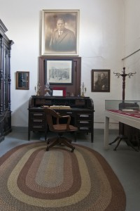 Reconstruction of Reverend Charles Albert Tindley's office | Photo: Peter Woodall, 2011