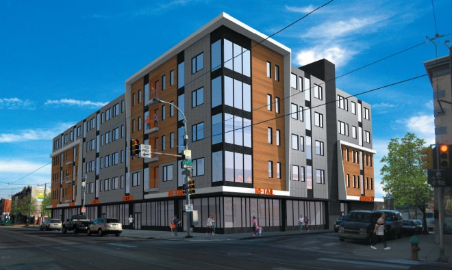 Brewerytown modern: the proposed Girard27 | Rendering courtesy JKR Partners, MMPartners, and Adco American Development