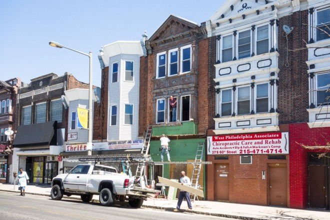Proof in the pudding: renovation work underway on South 60th Street in West Philadelphia | Photo: Theresa Stigale
