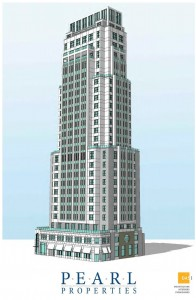 1900 Chestnut, tower as proposed | Rendering by DAS Architects, courtesy of Pearl Properties