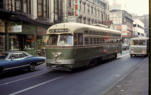 The #23 trolley at 12th and Market in 1968 | Photo: David Wilson