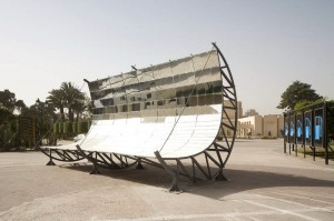 In 2008, artists Christina Hemauer and Roman Keller recreated a part of Shuman's industrial solar array in Cairo, Egypt | Photo: Christina Hemauer and Roman Keller
