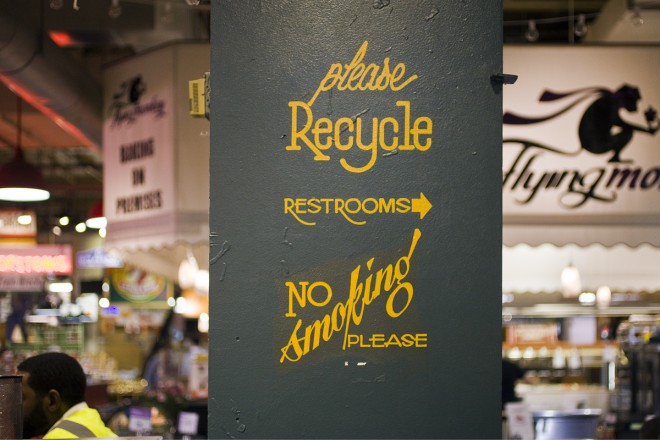 Helpful tips at Reading Terminal | Photo: Peter Woodall