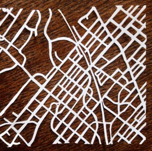 Mt Airy in paper | Paper cut by Emma Fried-Cassorla