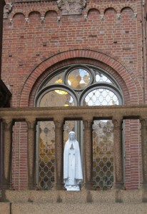 Since 1952, the Virgin Mother has welcomed visitors to 20th & Sansom | Photo: Molly Lester