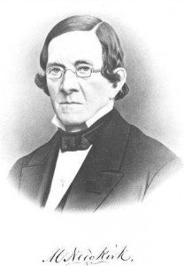 PW&B president Matthew Newkirk, photo from his memorial, published 1869