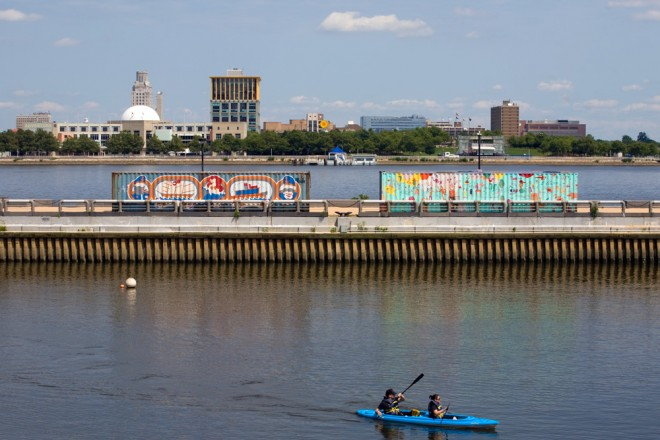 Shipping containers transformed, Spruce Street Harbor Park | Photo: Bradley Maule