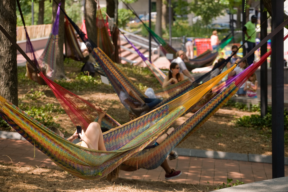 Hammock usage is up significantly in summer 2014 | Photo: Bradley Maule - With Pop-Up Beer Gardens Under Threat, Here's Why They Matter