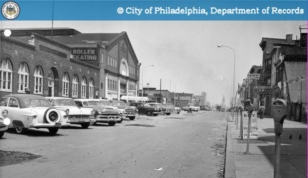 Adelphia Skating Rink at 3913 Market Street in 1956 | Image: City of Philadelphia: Department of Records
