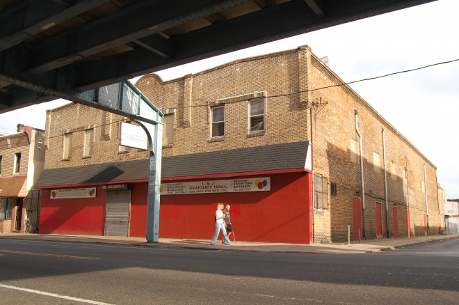 Kensington Roller Rink (originally Harrowgate Theater) under the El at 3419 Kensington Avenue
