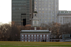 Formally opened in January 2007, a subtle hill was among the much needed improvements Olin added to Independence Mall   Photo: Bradley Maule