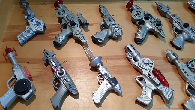 Spivak once had 10 panels of rayguns. These are Star Wars era Photo | Joseph G. Brin 2014