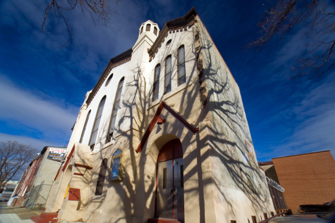 Death casts its harrowing shadow on Fishtown's Pilgrim United Church | Photo: Bradley Maule