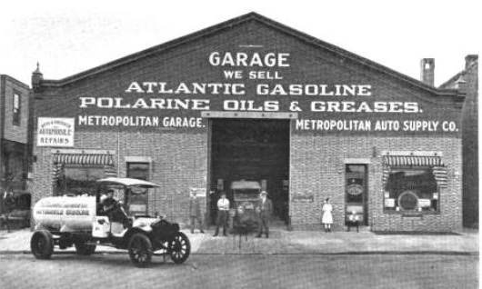 A similar, but smaller version of the 100-year-old Metropolitan Garage at 1501 N. 33rd Street—once a chain of service garages and auto suppliers that had a national presence in the 1910s |