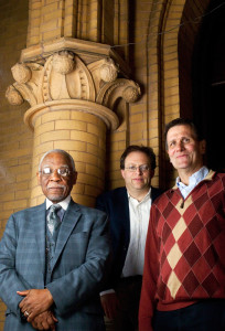 From left: Rev. Dr. W. Wilson Goode, Aaron Wunsch, Guy Laren | Photo: Peter Woodall