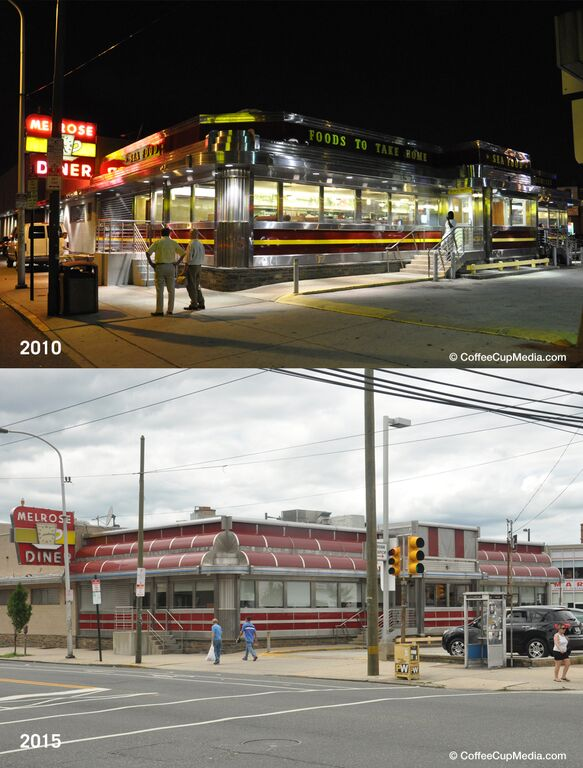 The Melrose Diner underwent a relatively light, though completely unnecessary exterior renovation in 2010. | Photo: Randy Garbin