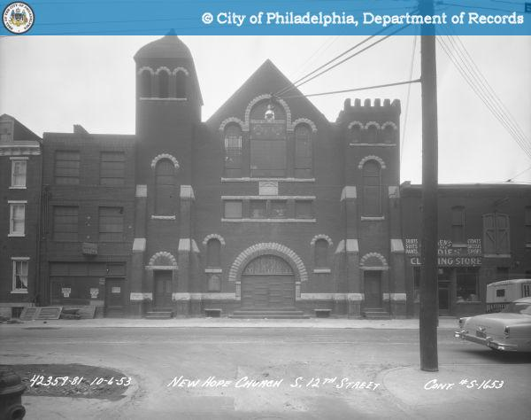 The church in 1953. Photo: PhillyHistory