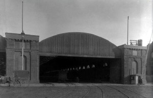 Built in 1861, the Reading Railroad Broad Street Depot once occupied the space where the Terminal Commerce Building is today. | Philadelphia Archives (www.phillyhistory.org)