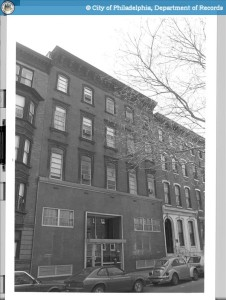 1906-08 Spruce with 1950s alterations, 1986 | Source: PhillyHistory.org
