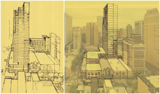 Initial sketches for 1900 Chestnut redesign | Drawings: Cecil Baker