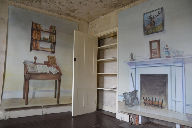 A recreation of Poe's writing room at 7th and Spring Garden Streets. Poe's Philadelphia of the 1830s was one of social upheaval, with vicious anti-abolitionist and anti-Catholic riots | Photo: Max Marin