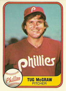 1981 Fleer cards featured the 1980 World Series champs   1981 Fleer card #657
