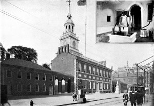 Independence Hall, source of Federalist compromise | King, Moses. Philadelphia and Notable Philadelphians. New York: Blanchard Press, Isaac H. Blanchard Co., 1901., p. 29 (collection of the Athenaeum of Philadelphia)