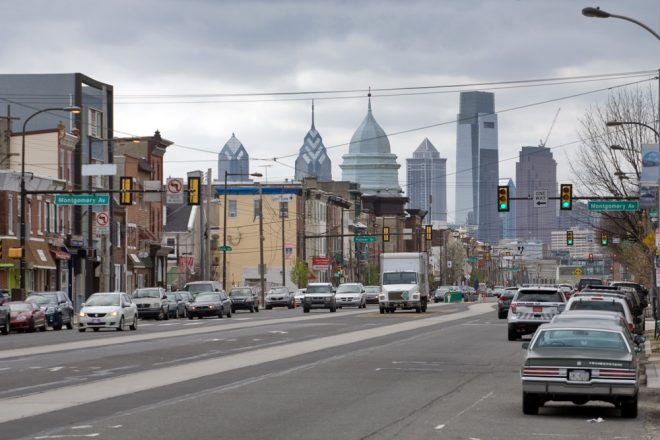 In the distance, the Philly skyline grows; on the left, Fishtown's grows with new construction on Girard Avenue. In the center, the dome of First Presbyterian Church stands unchanged since 1921, when it was added to the 1859 church | Photo: Bradley Maule