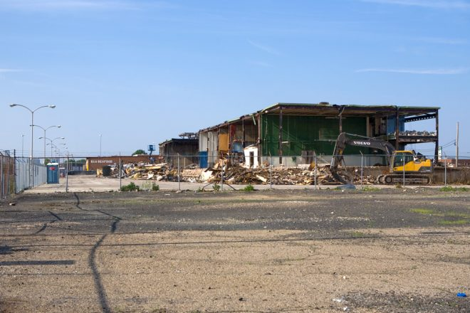 It may not look like much, but the seafood we eat once came through this demolition site | Photo: Bradley Maule