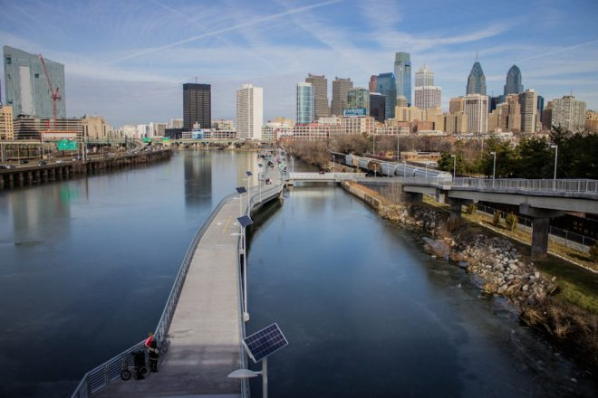 The Schuylkill River Boardwalk is a hive of activity year round | Photo: Michael Bixler