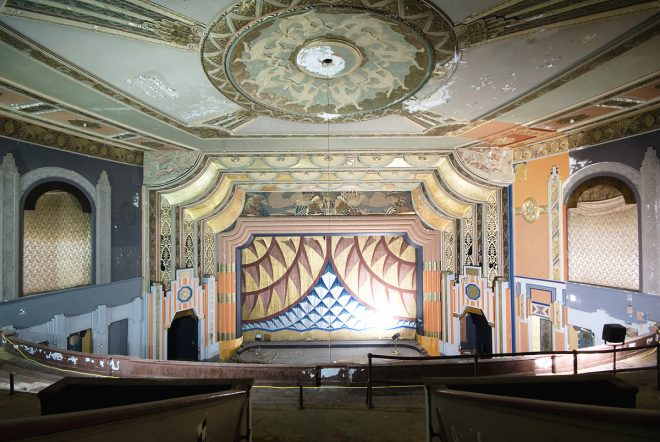 Boyd Theater auditorium, 2013. The destruction of the Boyd, Philadelphia's last remaining movie palace, was the biggest blow to local preservation efforts in the last decade | Photo: Chandra Lampreich