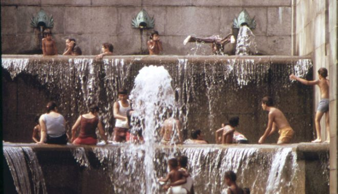 Art Museum fountains in August 1973 | Photograph by Dick Swanson, from the National Archives and Records Administration