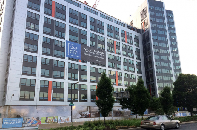 Much of One Water Street's bonus height is due to promises from PMC Property Group to include 25 affordable housing units. | Photo: Inga Saffron, for The Inquirer