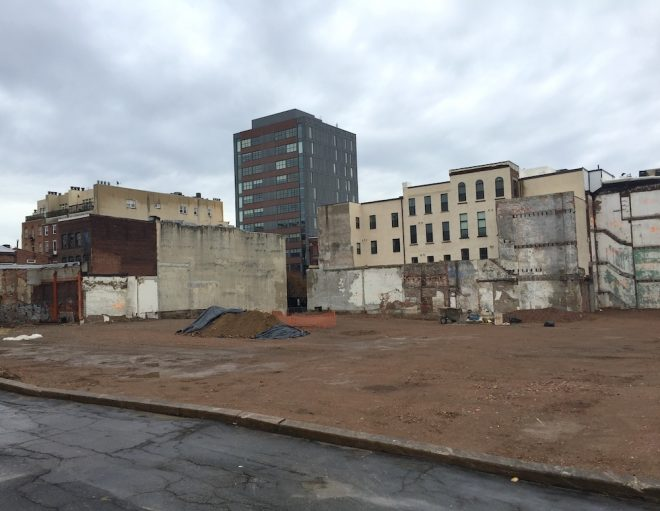 The former site of Wetherill Paint, a mix of 19th and 20th century buildings in Old City. Demolished 2015-2016 | Photo: Oscar Beisert