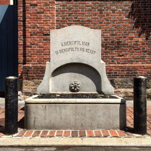 Early 20th century horse trough at 9th and Clinton Streets | Photo: Michael Bixler