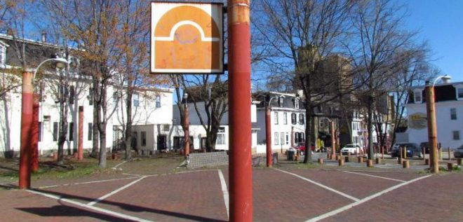 View of Greene Street Plaza, Maplewood Mall, Germantown   Plan Philly