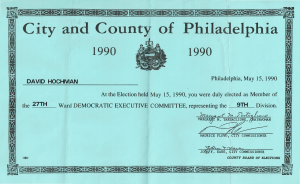 Certificate of Election, 1990 | Courtesy of the author