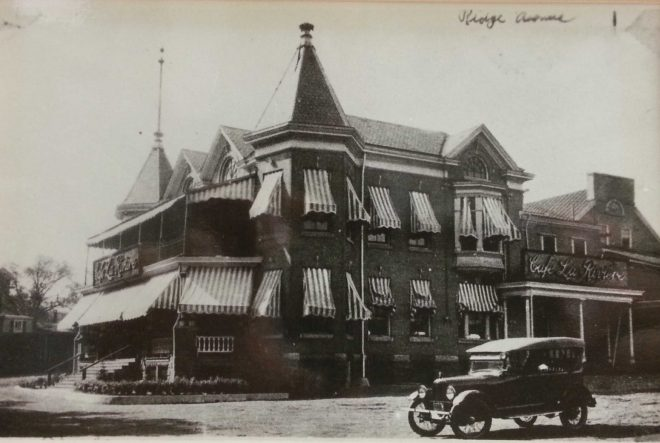 The historic inn by Ridge Avenue in the early 20th century | Courtesy of Darren Fava, Philadelphia Parks and Recreation