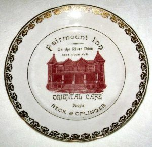 A plate celebrating the Fairmount Inn, a.k.a Vasey's Inn | Courtesy of Darren Fava, Philadelphia Parks and Recreation