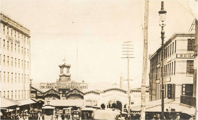 Market Street Ferry Terminal, 1896: | Source: Free Library of Philadelphia