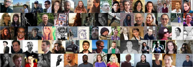 Pictured here are 75 of the 150 writers and photographers who have contributed to the Hidden City Daily since 2012